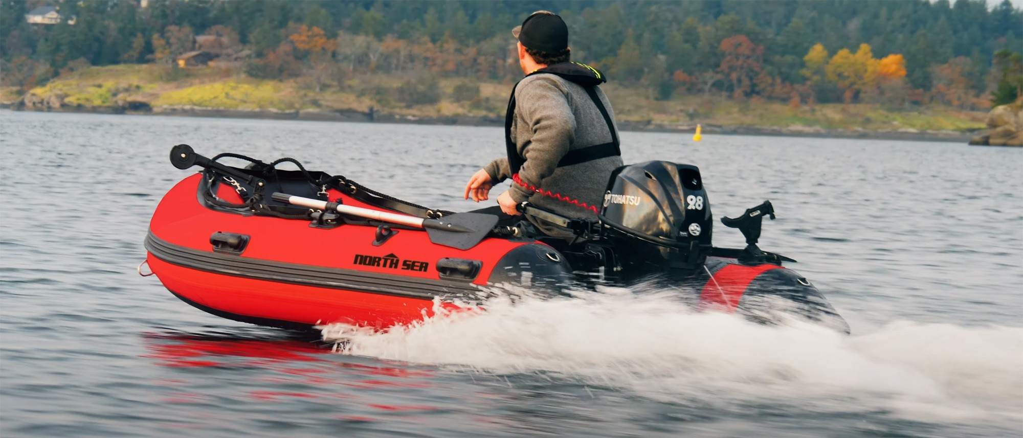 North Sea 360 3.6m Premium Inflatable Boat in Red